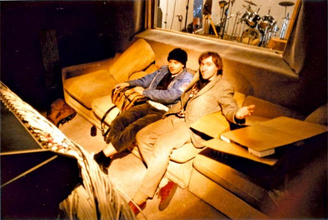 reclining rockers at Writhe Recording 1987
