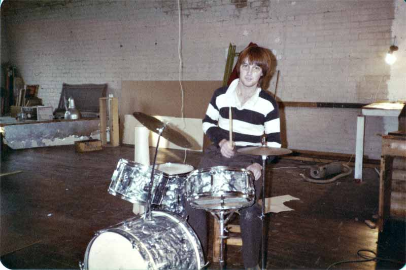 Earliest known pic of Kawowski's first kit at Mollet St studio (Pre-Axemen, pre_INK INC) 1980