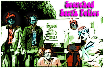 Scorched Earth Policy, l-r mick, buck, brian, mary, andrew