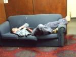 Dragan Stojanovic sleeps like a log after working like a dog