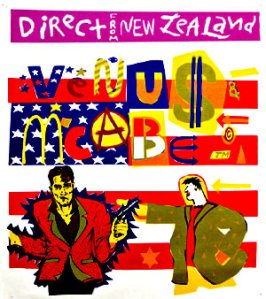 VenuVenus and McCabe - Tour Poster designed and printed by Steve McCabe
