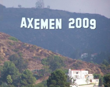 The iconic Axemen sign in the Hollwood Hills
