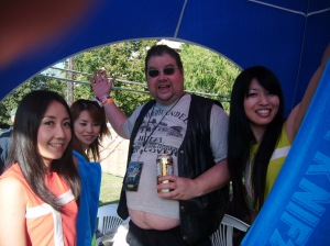 Steve McCabe with Shonen Knife, Fun Fun Fun Fest